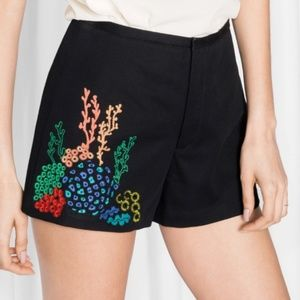 & Other Stories Coral Embroidery Shorts 6